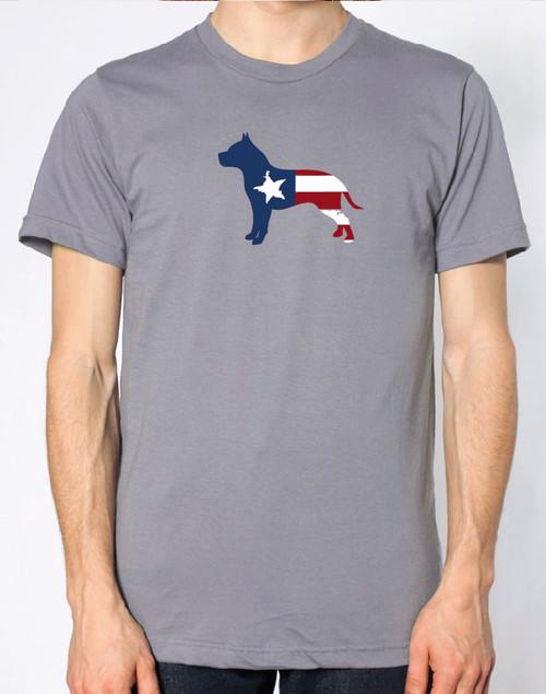 Righteous Hound - Men's Patriot Pitbull T-Shirt