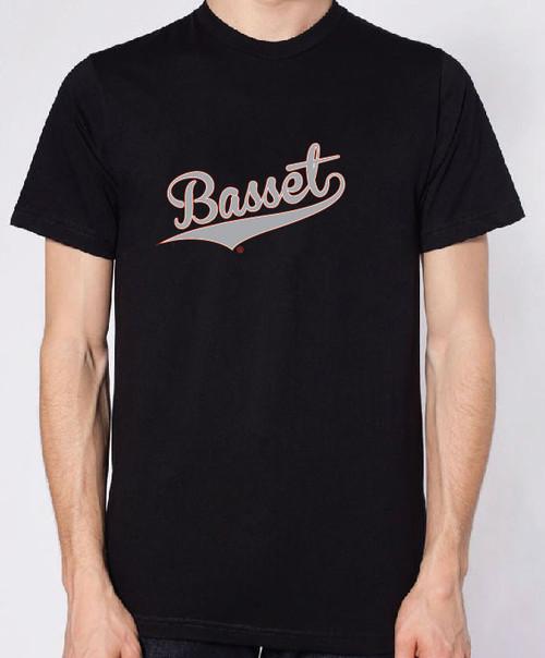 Righteous Hound - Men's Varsity Basset Hound T-Shirt