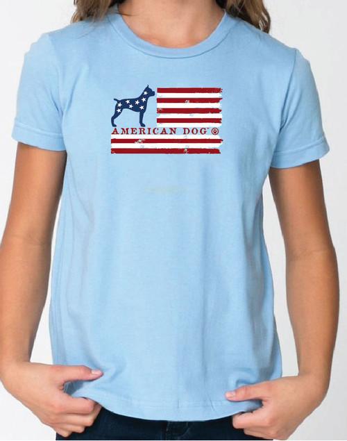 Righteous Hound - Kid's Flag Boxer Tee