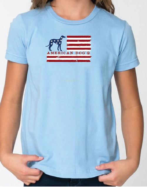 Righteous Hound - Kid's Flag Greyhound Tee