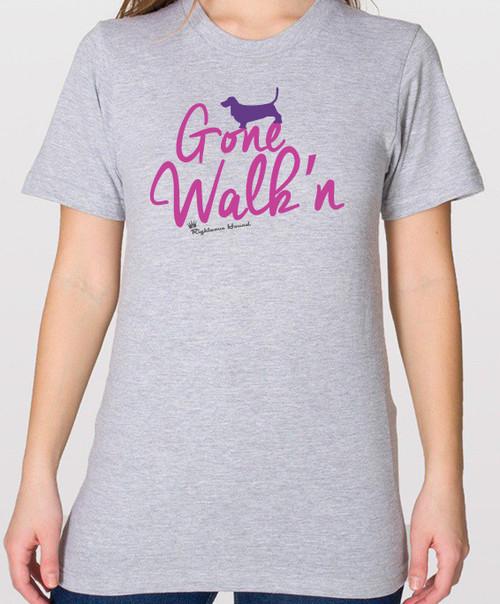 Gone Walk'n Basset Hound T-Shirt - Unisex