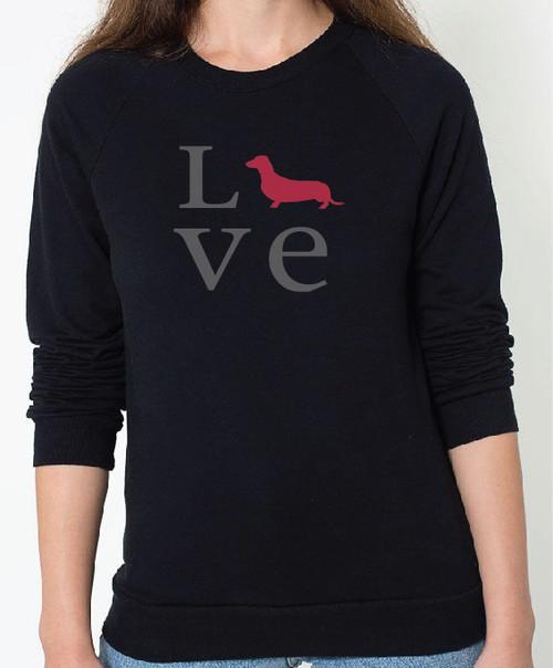Unisex Love Dachshund Sweatshirt