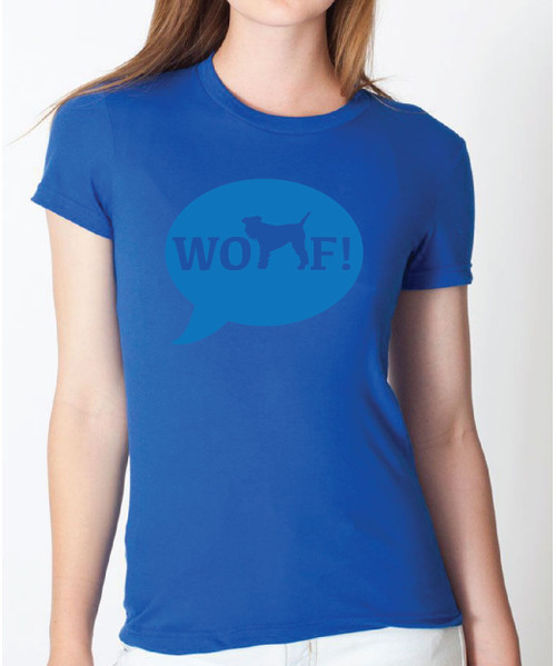 Righteous Hound - Women's WOOF! Schnauzer Fitted Tee