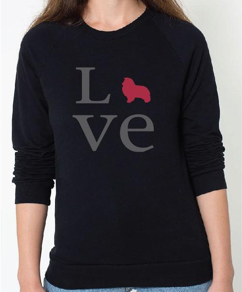 Unisex Love Shetland Sheepdog Sweatshirt