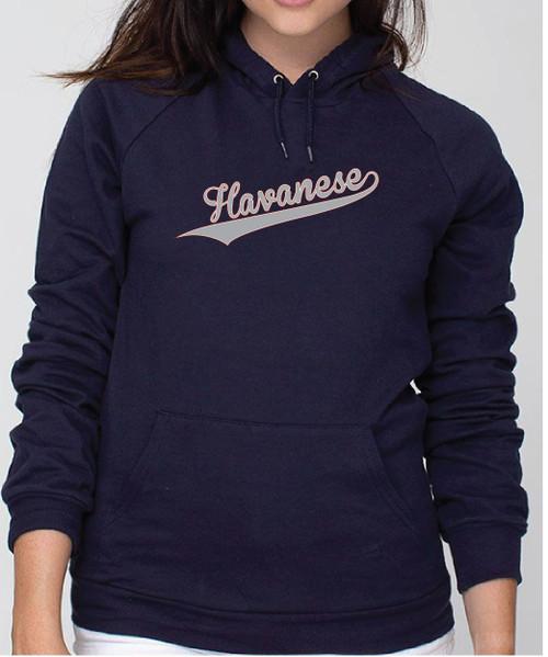 Righteous Hound - Unisex Varsity Havanese Hoodie
