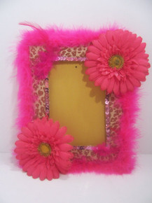 Hot Pink/Leopard Picture Frame