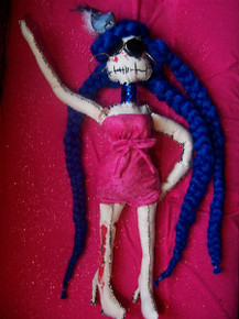 SALE! Creepy Doll, 23 Inch Gothic Doll (Ms. Peace), Dolly Dames