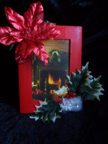 Red Holiday Picture Frame