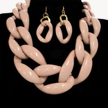 Chunky Rose Chain Fashion Necklace set