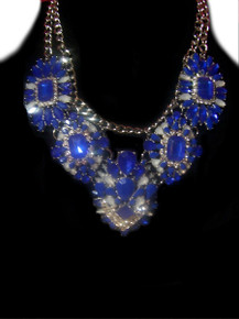 Blue/Crystal Luxury Fashion Necklace