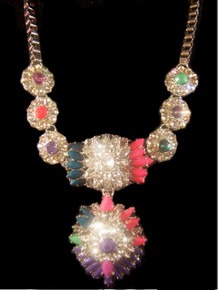 Multi-Color Crystal Luxury Fashion Necklace