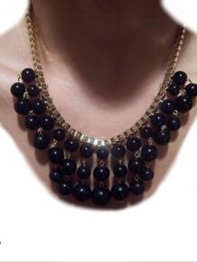 Pretty Black Pearls Fashion Necklace