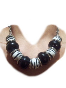 Zebra Print Fashion Necklace