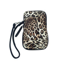 Cell Phone Leopard Wristlet