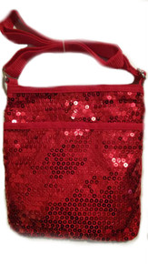 Girls Red Crossbody Sequin Purse
