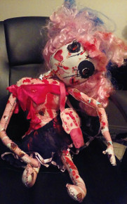 Oh Snap! Crazy Neck Zombie Doll/HANDMADE  FREE SHIPPING!