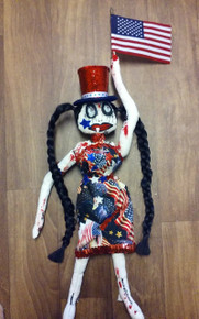 SALE!   Bloody 4th of July, Creepy Doll, 23 Inch Gothic Doll, Drag Doll