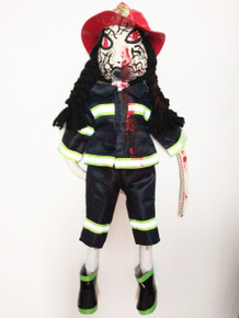 Zombie FireFighter Doll