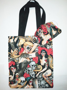 Lady Day Of The Dead Mask and Tote Set
