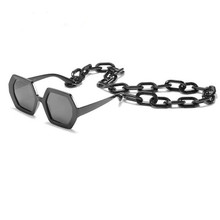 Fashion Chain Black Sunglasses
