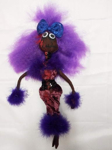 African American Zombie Doll.  Measures 18 inches long