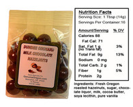 MILK CHOCOLATE COVERED HAZELNUTS (3 oz) by DUNDEE ORCHARDS