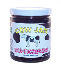 Cow Jam WILD HUCKLEBERRY JAM - 12 oz. jar