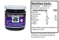 NORTHWEST BERRY GROWERS FRUIT-SWEETENED SEEDLESS BLACK RASPBERRY PRESERVES - 10 oz. jar