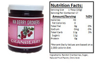 NORTHWEST BERRY GROWERS OREGON BANDON CRANBERRY - 12 oz.jar