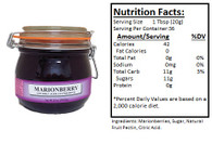 NORTHWEST BERRY GROWERS SEEDLESS OREGON MARIONBERRY PRESERVES - 25oz. Granny Jar
