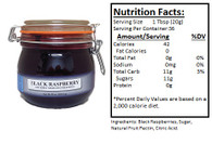 NORTHWEST BERRY GROWERS SEEDLESS BLACK RASPBERRY PRESERVES - 25oz. Granny Jar