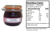 NORTHWEST BERRY GROWERS OREGON BANDON CRANBERRY PRESERVES - 25oz. Granny Jar