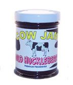 Cow Jam Wild Huckleberry Preserve Mini Jar