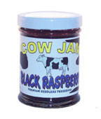 Cow Jam Seedless Black Raspberry Preserve Mini Jar