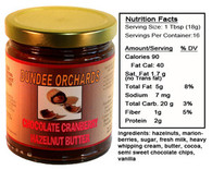 CHOCOLATE CRANBERRY HAZELNUT BUTTER by DUNDEE ORCHARDS