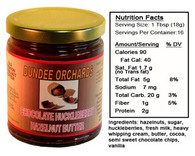 CHOCOLATE HUCKLEBERRY  HAZELNUT BUTTER by DUNDEE ORCHARDS