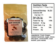 DARK CHOCOLATE-COVERED HAZELNUTS (3 oz) by DUNDEE ORCHARDS