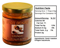 CRUNCHY HAZELNUT BUTTER (8 oz jar)  by DUNDEE ORCHARDS