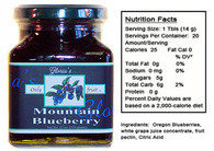 Mountain Blueberry Jam by Gloria's Gourmet (12 oz jar )