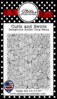 Curls and Swirls Background Builder Cling Stamp