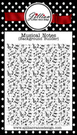 Musical Notes Background Builder Stamp