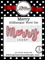 Merry DIEalogue Word Die