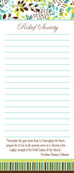 """Notepad: President Monson's """"Past, Present, Future"""" Quote in the Leaf Design - SOLD OUT"""