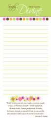 """Notepad: Bonnie Parkin's """"Devine"""" Quote in the Dot Design - SOLD OUT"""