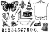 """Full set 7 3/4"""" x 5 1/8""""  Butterfly 2 7/8"""" x 1 3/4""""  Numbers 5/8"""" height"""