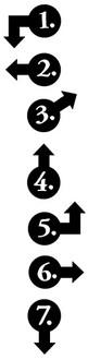 """Each number arrow (1/2"""" x 3/4"""" & 3/4"""" x 1/2"""")"""
