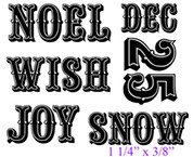 "Snow (1 1/4"" x 3/8"")"