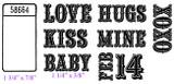 "Ticket (1 3/4"" x 7/8"") Baby (1 1/4"" x 3/8"")"
