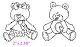 """2"""" x 2 3/8"""" (Girl Bear)"""