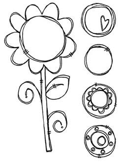 "Flower (2 1/4"" x 4 5/8"")"